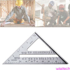 "Aluminum Alloy Measuring Square Speed 7"" Triangle Ruler Protractor Miter Framing"