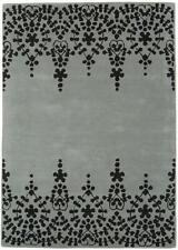 Matrix Guild Grey/Beige Area Rug Living Room Bedroom Dining Soft Modern Mat Wool