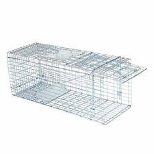Humane Animal Trap 32x12x12 Steel Cage Live Rodent Control Skunk Rabbit Opossum