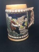 Vintage Beer Stein Drinking Mug Ceramic MADE IN JAPAN Man Cave Breweriana
