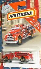 2019 Matchbox Metal MBX Rescue #14-20 Red Seagrave Fire Engine Station No. 3 Die