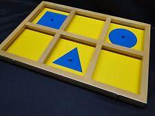 Montessori Geometric Demonstration Tray Sensorial, Kido, new