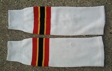 Topeka Scarecrows CHL Knit Hockey Socks ~ White Red Black Yellow L ~ USHL