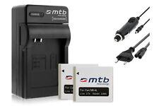 2x Baterìas NB-4L + Cargador para Canon IXY 90, L3, L4, Wireless / LEGRIA Mini