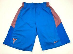 Nike Kobe Bryant Shorts Size Large L Blue Orange Pockets Basketball Short Adult