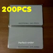 200Pcs 125KHZ RFID Cards EM4100/ TK4100 Proximity ID Cards For Access Control