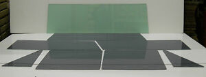 1966 - 1977 Ford Bronco Glass Series 98 Green Windshield Grey Vent Door Qtr Back
