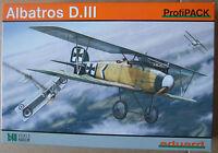 EDUARD 1/48 ALBATROS D.III ProfiPack 8097 WWI German fighter kit. *NEW*