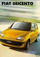 Fiat Seicento 1998-2000 UK Market Sales Brochure S SX Citymatic Sporting