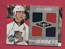 2010-11 BLACK DIAMOND # QJ-SW PANTHERS STEPHEN WEISS QUAD GAME JERSEY CARD