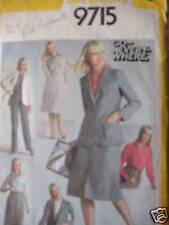 Vintage Simplicity Pattern 1980's 12 Skirt Pants Jacket