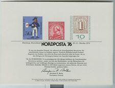 Souvenir Card Nordposta 76  SC53 // SC 53 1976 Excellent Condition