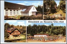DDR Postkarte SCHMIEDEFELD Rennsteig Thüringer Wald ua. Film-Bühne, Freibad uvm.