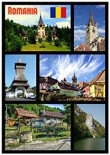 ROMANIA - SOUVENIR NOVELTY FRIDGE MAGNET - SIGHTS / FLAGS - NEW - GIFT / XMAS