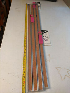 "Quartet Bulletin Bar Strip Cork Board 36"" X 1"" Classroom Office Cubicle Alum, Ea"