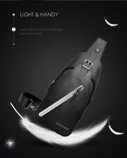 Artic Hunter Men's Sling Bag – Messenger Shoulder/Chest Bag - Color: Black