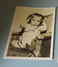 1930's Baby Leroy Child Movie Star Photo 5x7 Facsimile Signed W.C. Fields Films
