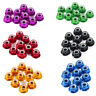 US M2 CNC Nylon Insert Self-Lock Aluminum Hex Self Lock Black Purple Flange Nuts