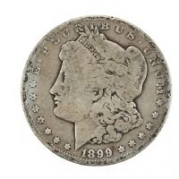 Raw 1899 Morgan $1 Uncertified Ungraded Circulated US Mint Silver Dollar Coin