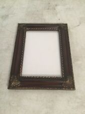 Picture Frame 5x7 Mahogany & Gold Plastic Frame