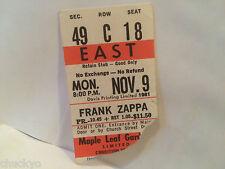 Frank Zappa Concert Ticket Stub 11-9-1981 Toronto Maple Leaf Gardens - Rare