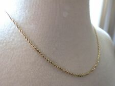 """VTG OR 14k Yellow Gold Chain Necklace 2.23 Gram Rope Twist 18"""" Nice Cond! 1.6mm"""