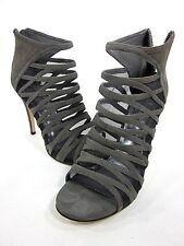DKNY AVA SANDAL WOMEN'S GREY US SIZE 7.5M EURO 38 LEATHER NEW/ DISPLAY