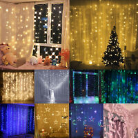 300LED Christmas Xmas String Fairy Lamp Wedding Party Curtain Outdoor Light Deco