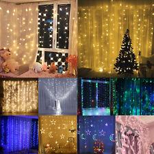 300LED Christmas Xmas String Fairy Lamp Wedding Party Curtain Outdoor Light Deco