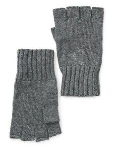 JOHN VARVATOS STAR USA Men Fingerless Knit Gloves Black or Gray one Size NWT $68