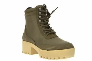 Aqua 250298 Womens Round Toe Lace-Up Combat Bootie Olive Size 6 Medium