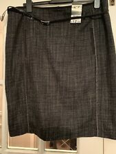 BNWT George black and white pencil skirt, with belt, size 18