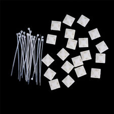 10Set Cable Clips Adhesive Cord Management Wire Wall Holder Organizer Clamp TO