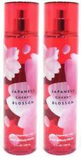 Bath & Body Works Japanese Cherry Blossom Fine Fragrance Mist Spray 8 oz Lot 2