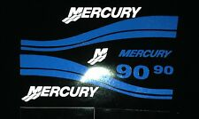 Mercury Outboard 40 50 60 or  90 hp   Blue Marine Vinyl decal set