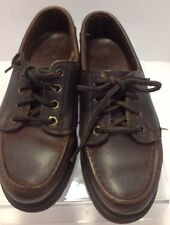 Eastland size 6 M brown leather youth lace shoes