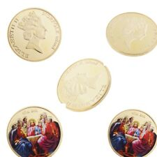 5Pcs  Jesus Commemorative Coin Metal Badge Craft Memorial Coin Toy