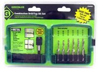 Drill/Tap 6pc Kit DTAPKIT #6-32-1/4-20 Greenlee Electricians Hole Making Set