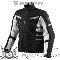 REV-IT SAND 2 WHITE BLACK THERMAL WATERPROOF TEXTILE MOTORBIKE MOTORCYCLE JACKET