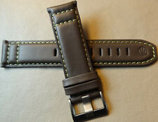 New Timex T49895 Padded Water Resistant Leather 22mm Expedition Brown Watch Band