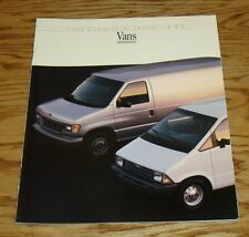 Original 1992 Ford Commercial Van Sales Brochure 92 Econoline Aerostar Club