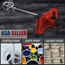 1600W Handheld 6-speed Electric Mixer fr Stirring Mortar Paint Cement Grout 110V