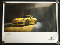 PORSCHE OFFICIAL 981 CAYMAN GT4 LIMITED EDITION SHOWROOM POSTER 2016.
