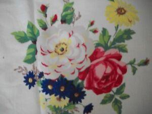 Vintage Wilendur Floral Tablecloth
