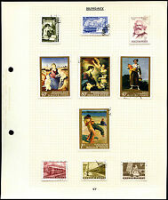 Hungary Album Page Of Stamps #V4511