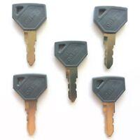 (5) Yanmar and John Deere Tractor Ignition Keys 198360-52160
