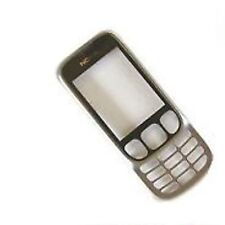 100% Original Nokia 6303 frontblende gehäuse + glasdisplay silber stahl metall
