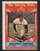 1959 Topps #553 Orlando Cepeda EX/EX+ Giants AS 72754