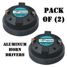 "Pack of (2) Pyle PDS122 1.5"" Aluminum Horn Drivers 8 Ohm 1-3/8"" x 18 TPI DJ Pro"