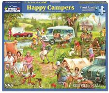 WHITE MOUNTAIN JIGSAW PUZZLE HAPPY CAMPERS JAMES MITCHELL 1000 PCS #1337